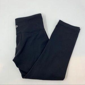 Lululemon Cropped Leggings Black Size 4